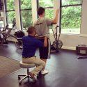 John De Noyelles helps a patient with a lower back problem.